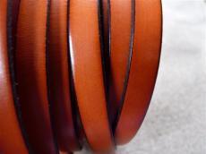 10 mm bőr karkötő alap narancs-fekete 1 cm