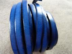 6 mm bőr karkötő alap sötétkék 20 cm