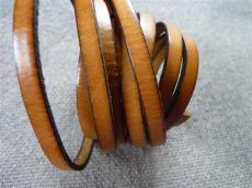 6 mm bőr karkötő alap mustár 20 cm