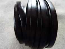 6 mm bőr karkötő alap sötétbarna 20 cm