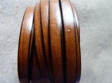 6 mm bőr karkötő alap középbarna 20 cm