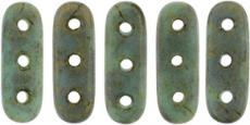 beam gyöngy 10 x 3 mm matt telt türkiz-bronz 10 db
