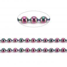 színes rozsdamentes acél ball lánc 1 m 1,5 mm
