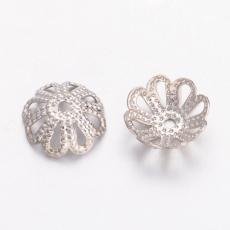 gyöngykupak: 8 mm filigrán platinum színű 20 db