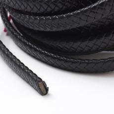 10x5 mm fonott bőr karkötő alap fekete 1 cm