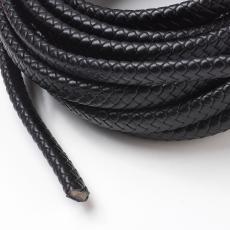 12x6 mm fonott bőr karkötő alap fekete 1 cm