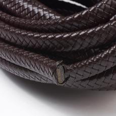 12x6 mm fonott bőr karkötő alap sötétbarna 1 cm