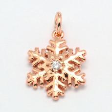 cirkonia hópehely medál/6 rose gold