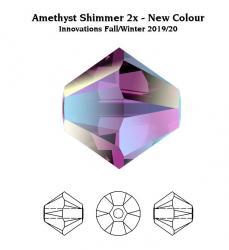 sw bicone 4 mm amethyst shimmer 2x