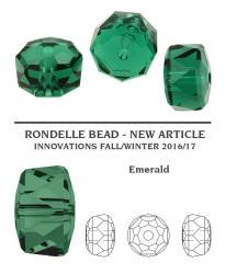 5045 rondelle gyöngy emerald 6 mm