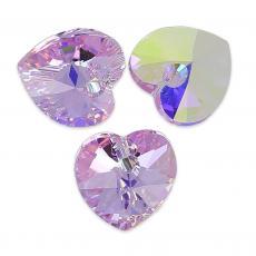 10 mm szív függő violet AB