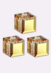5601 kocka gyöngy 6 mm: crystal metallic sunshine