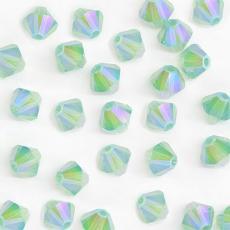 sw bicone 4 mm chrysolite opal shimmer 2x 1 db