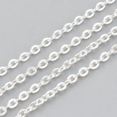 ezüst színű rozsdamentes acél szemes lánc 1 m