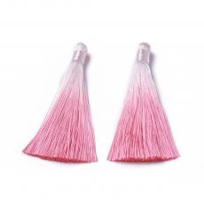 rózsaszín-fehér színátmenetes bojt 80 mm