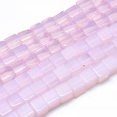 rózsaszín opalit kocka 6 mm