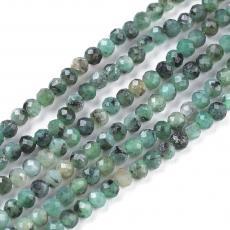 fazettált smaragd kb. 2 mm szál