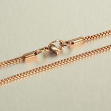 rose gold színű rozsdamentes acél kockalánc 60 cm