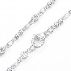 ezüst színű rozsdamentes acél lánc/02s 50 cm