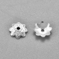 gyöngykupak: rozsdamentes acél szirmos 7 mm 10 db ezüst színű