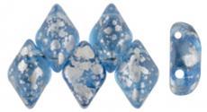 gemduo gyöngy: silver splash aquamarine 10 db