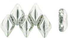 gemduo gyöngy: silver 1/2 10 db