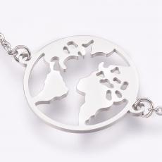 rozsdamentes acél föld karkötő platinum