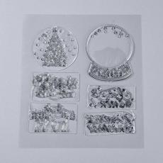 szilikon hógömbös bélyegzőkészlet