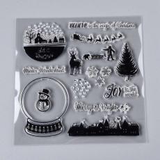 szilikon hógömbös/szarvasos bélyegzőkészlet