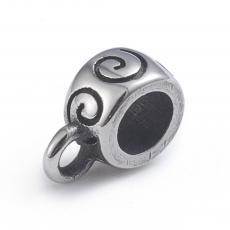 medáltartó: rozsdamentes acél antikolt csigás 1 db