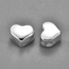 rozsdamentes acél ezüst színű szív köztes 1 db