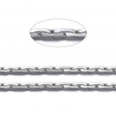 platinum színű lapos kígyólánc 1 m