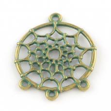 alap antik réz színű zöld patinás álomfogó