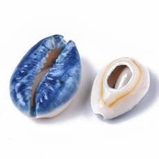 kék mintás porceláncsiga 1 db