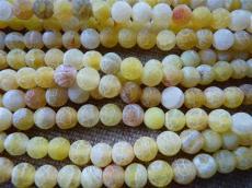 matt barna foltos sárga achát 8 mm