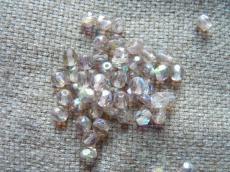 csiszolt gyöngy 5 mm: világos ametiszt AB 30 db