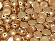 aztec gold kétlyukú cabochon 6 mm 10 db