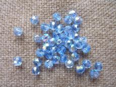 csiszolt gyöngy 5 mm: világos zafírkék AB 30 db