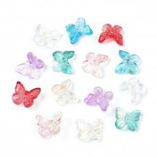 akril pillangó áttetsző színes mix 10 db