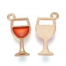 borospohár medál - rose gold