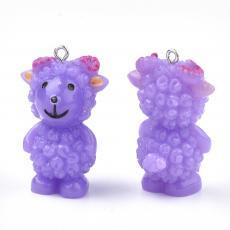 akril lila bárány medál