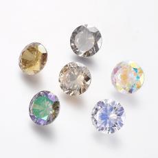 cirkonia diamond formájú kabochon szürke-zöldes bevonatos 10 mm