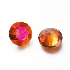 cirkonia diamond formájú kabochon astral pink 10 mm