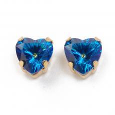 fűzhető foglalatos szív kék