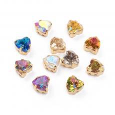 fűzhető foglalatos szív kristály AB