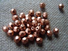 csiszolt gyöngy 6 mm matt vörösréz 25 db