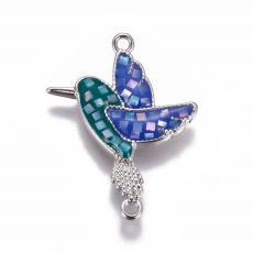színes kolibri kagylóberakásos távtartó