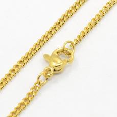 arany színű rozsdamentes acél szemes lánc 50 cm