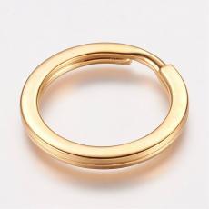 rozsdamentes acél kulcstartó karika arany színű sima
