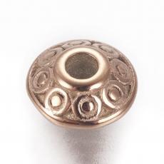 rozsdamentes acél pöttyös ufo köztes rose gold 1 db